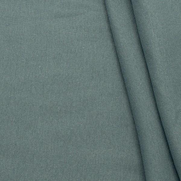 Bio-Baumwoll Bündchenstoff Organic Tauben-Blau