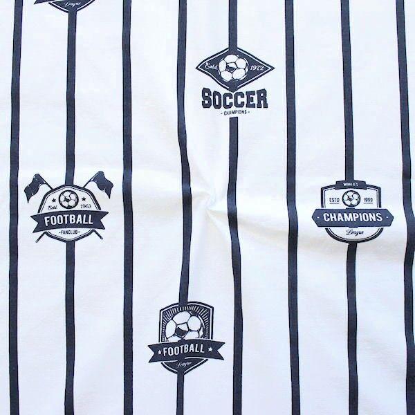 Baumwoll Stretch Jersey Soccer Weiss