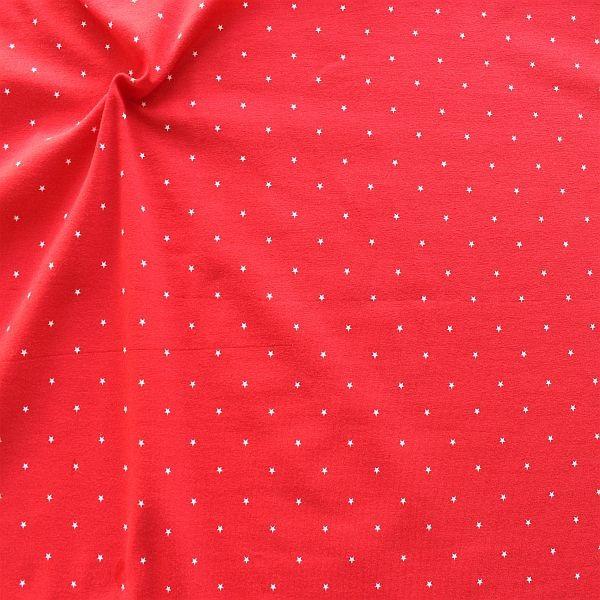 Baumwoll Stretch Jersey Littele Stars Rot