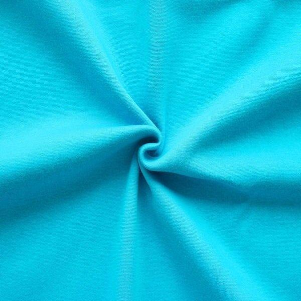 Sweatshirt Baumwollstoff Türkis-Blau