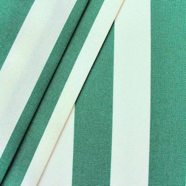 """Markisen Outdoorstoff """"Streifen"""" Breite 160cm Farbe Grün-Weiss"""