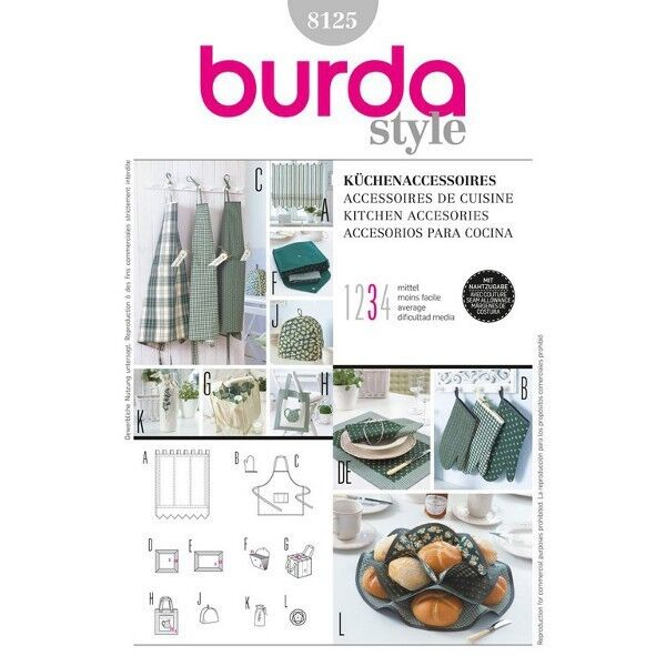 Küchen-Accessoires, Schnittmuster Burda 8125