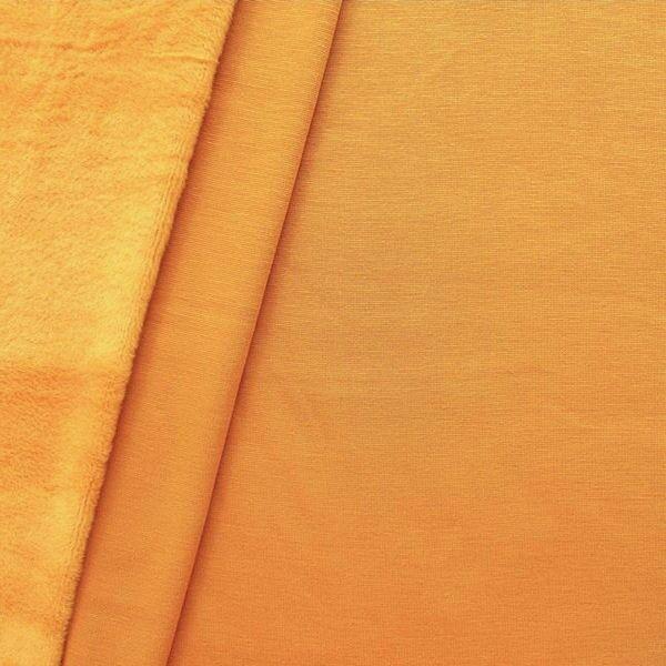 Orangefarbener Alpenfleece-Sweatshirt