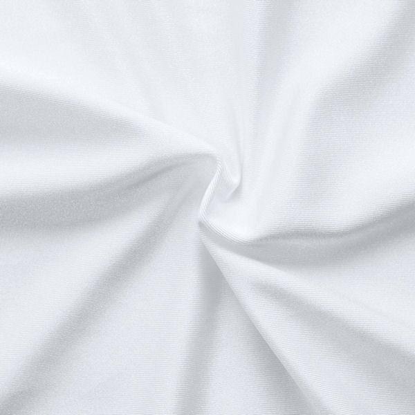 Bi-Stretch Jersey Badeanzug Stoff Farbe Weiss