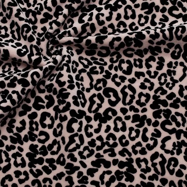 Nicki Baumwollstoff Leopard Look Rosa