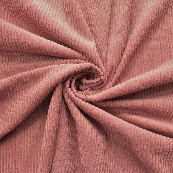 Baumwollstoff Breitcord Klassik Alt-Rose