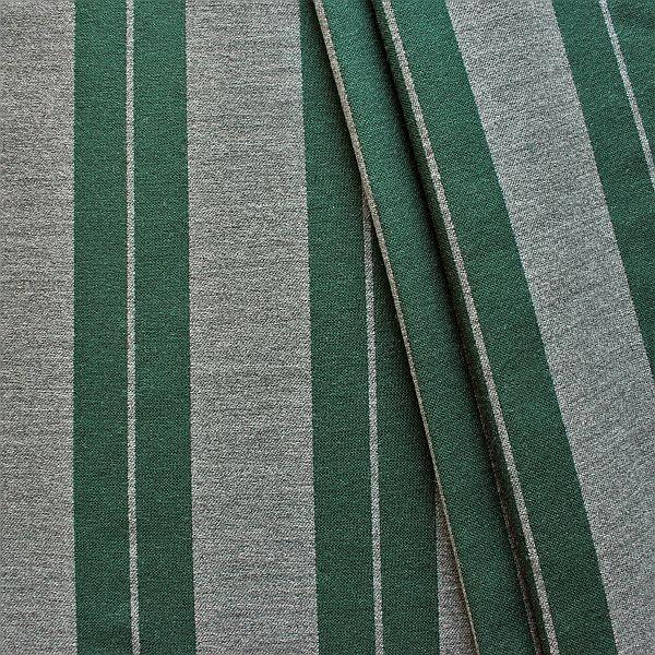 Jacquard Dekostoff Doubleface Doppelstreifen Grau-Grün