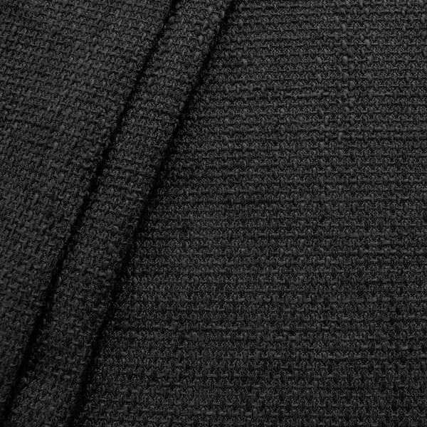 Polster- Möbelstoff Bouclé Optik Artikel Lawa Farbe Schwarz-Anthrazit