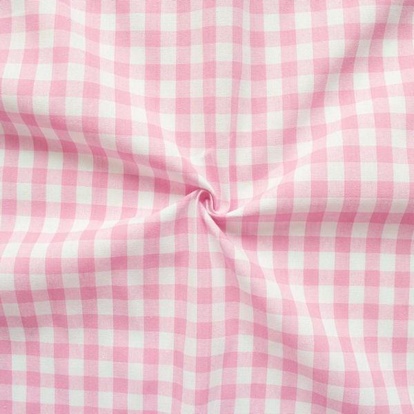 Baumwollstoff Züchen Vichy Karo Rosa-Weiss