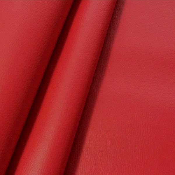 Polster PVC Kunstleder Rindsleder Optik Karmin-Rot