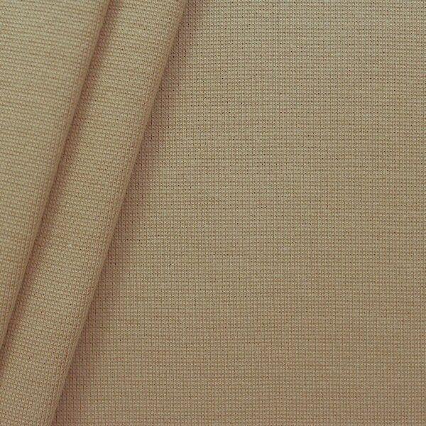 Baumwoll Bündchenstoff glatt Beige-Braun