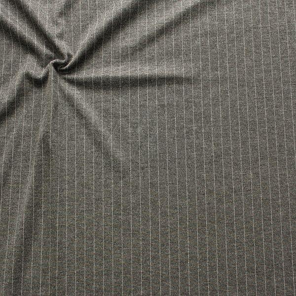 Modestoff Nadelstreifen Grau meliert