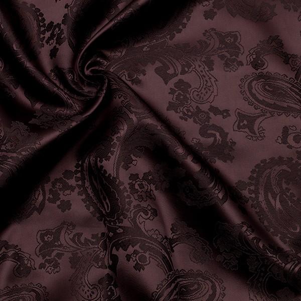Taft Futterstoff Jacquard Paisley Muster Dunkel-Bordeaux