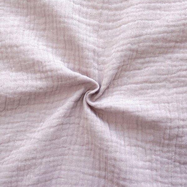 100% Baumwolle Musselin Double Gauze Farbe Alt-Rosé