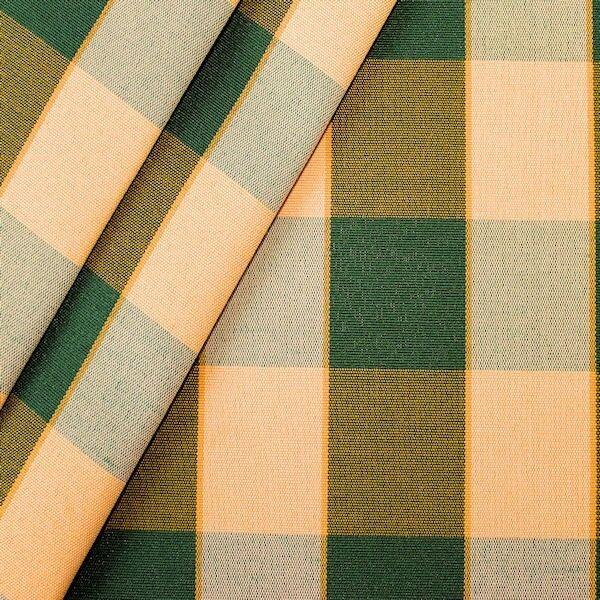 Dekostoff Outdoorstoff Karo Grün-Gelb