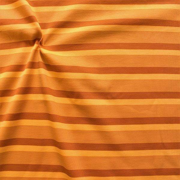 Sweatshirt Baumwollstoff Streifen Trio Ocker-Orange
