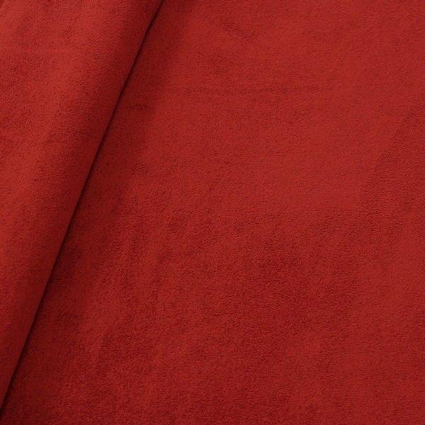 Suede Wildlederimitat Rost-Rot
