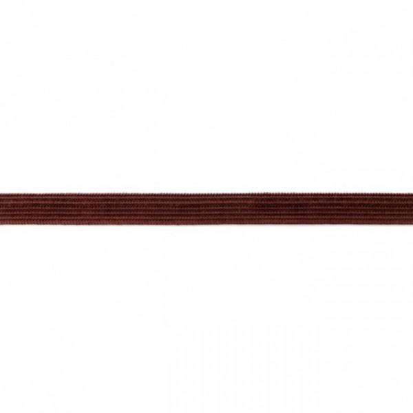 2m Elastikband Breite 10mm Farbe Dunkel-Braun