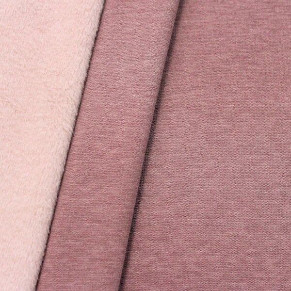 Alpenfleece Sweatshirt 3 Farbe Pastell-Violett melange