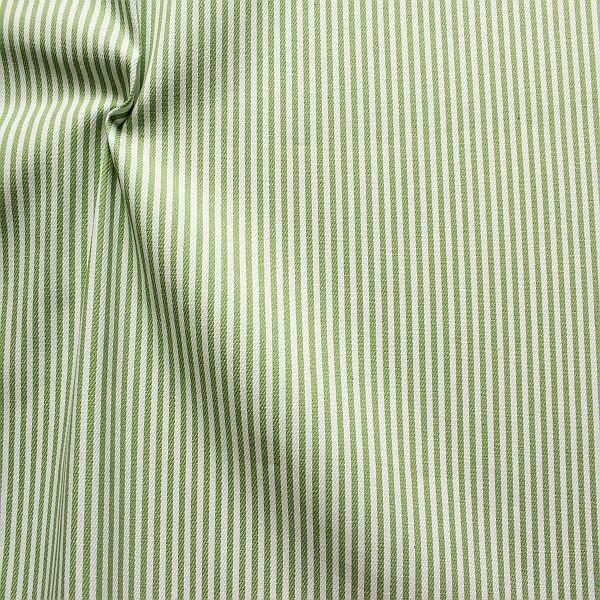 Baumwolle Denim Jeans Stoff Streifen Schmal Grün-Weiss