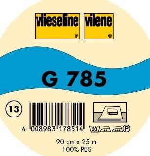 Vlieseline leichte bi-elastische Gewebeeinlage aufbügelbar Typ G 785 Farbe Rohweiss