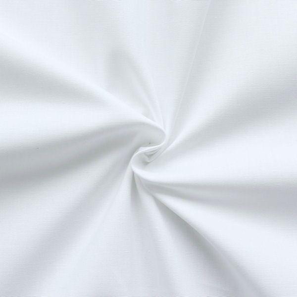 Stretch Baumwolle Popeline Farbe Weiss