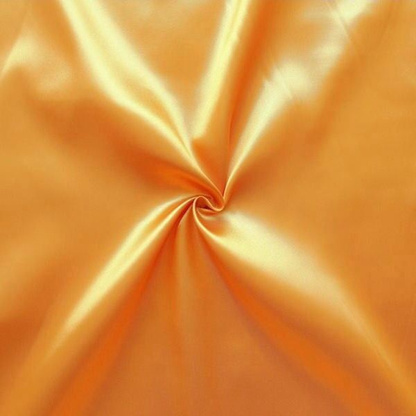 Satin Stoff Farbe Gold 2