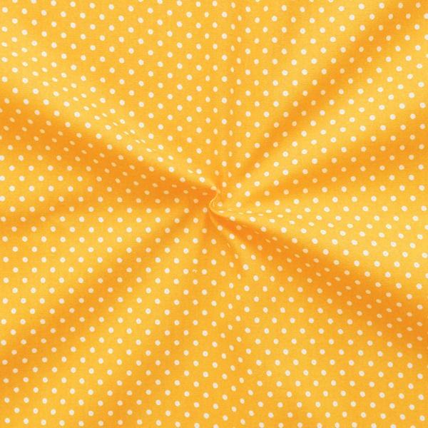 """Baumwollstoff """"Tupfen Klein"""" Farbe Gelb"""