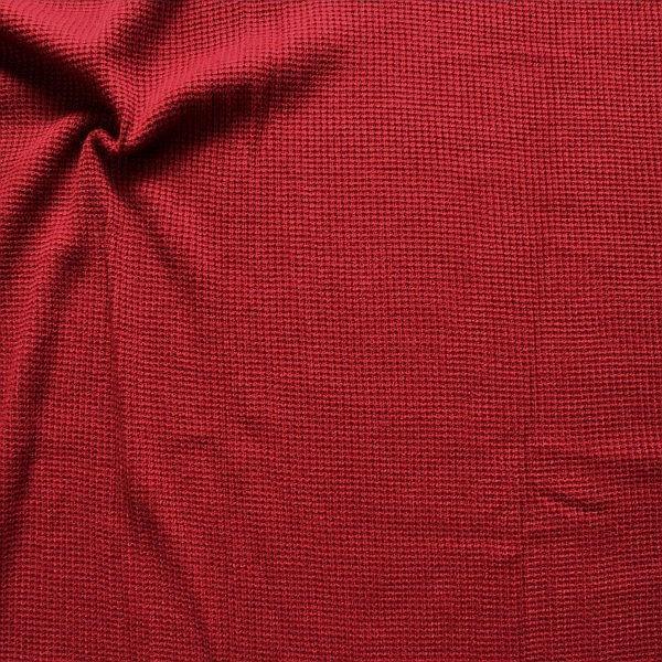 Strickstoff Rippenstrick Dunkel-Rot