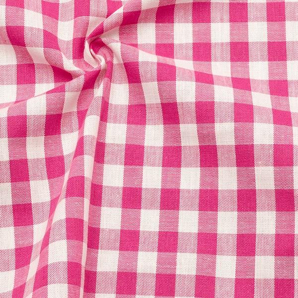 Baumwollstoff Züchen Vichy Karo Pink Weiss