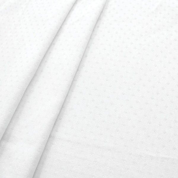 100% Baumwolle Damast Rauten klein Weiss