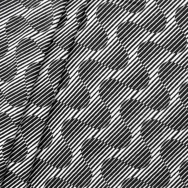 Doubleface Mantelflausch Modern Art Druck Schwarz-Weiss