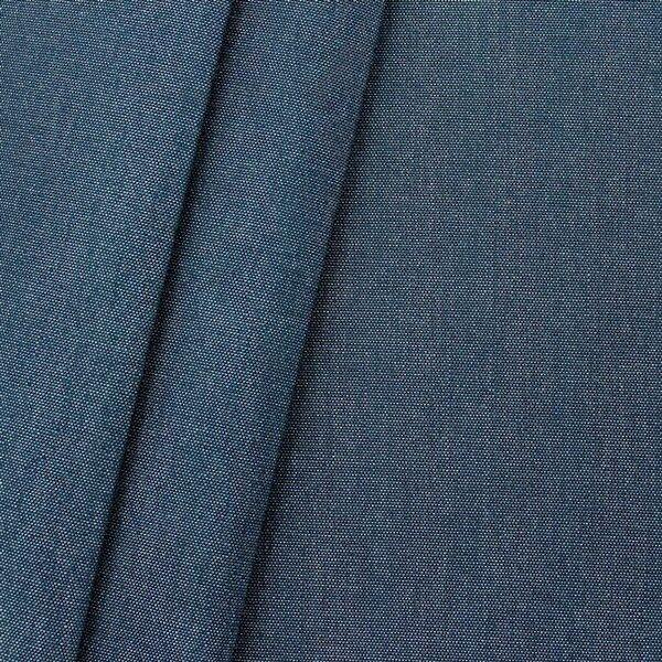 Deko Outdoorstoff Melange Optik Dunkel-Blau