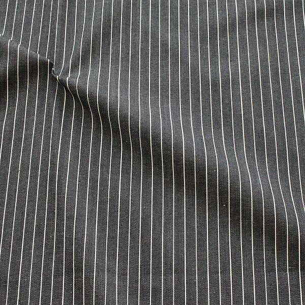Stretch Denim Jeans Stoff Nadelstreifen Schwarz