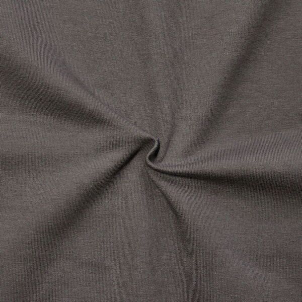 "Sweatshirt Baumwollstoff French Terry ""Fashion Basic 2"" Farbe Taupe"