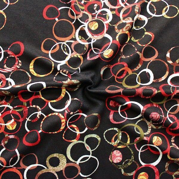 Feinstrick Jersey Fashion Rings Schwarz