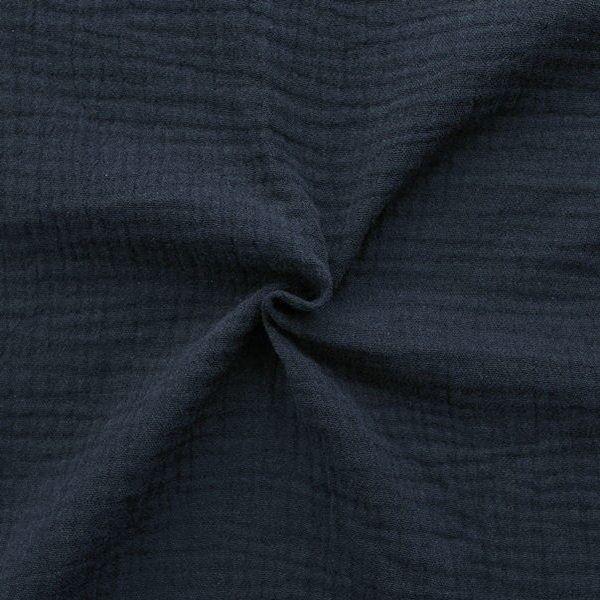 100% Baumwolle Musselin Double Gauze Farbe Dunkel-Blau