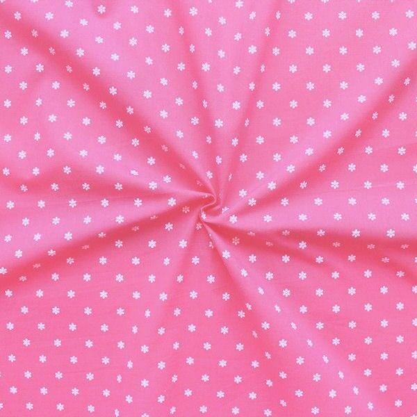 """100% Baumwollstoff """"Trachten Blümchen 2"""" Farbe Rosa-Pink"""