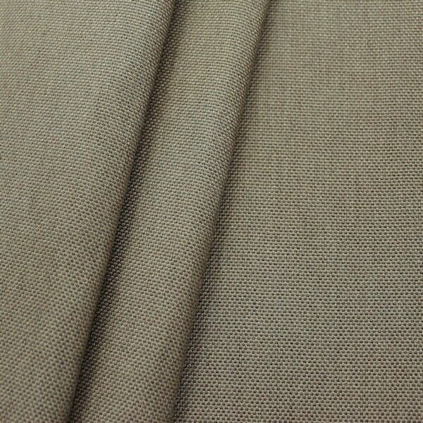 2,40 Meter Indoor- / Outdoorstoff Panama Bindung Farbe Taupe meliert