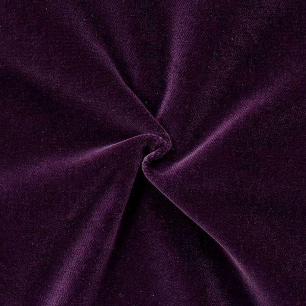 Baumwoll Bekleidungs- / Deko Samt Artikel Fynn Farbe Dunkel-Violett