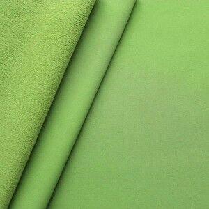 Softshell Fleece Stoff Farbe Lind-Grün