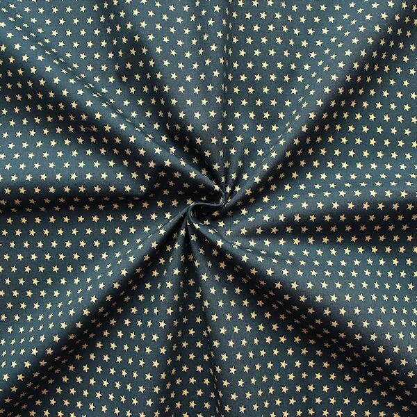 Baumwoll Popeline Sterne Dunkel-Blau