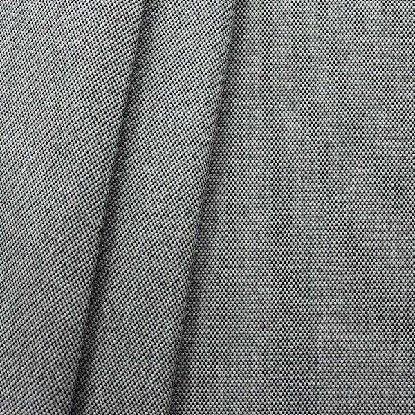Indoor- Outdoorstoff Panama Bindung Schwarz-Grau meliert