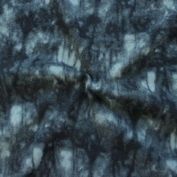 Polar Fleece Batik Optik Schwarz