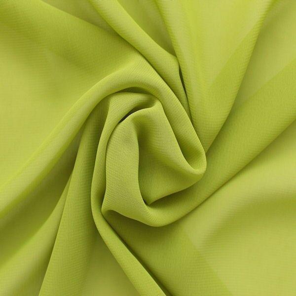Polyester Chiffon Lind-Grün