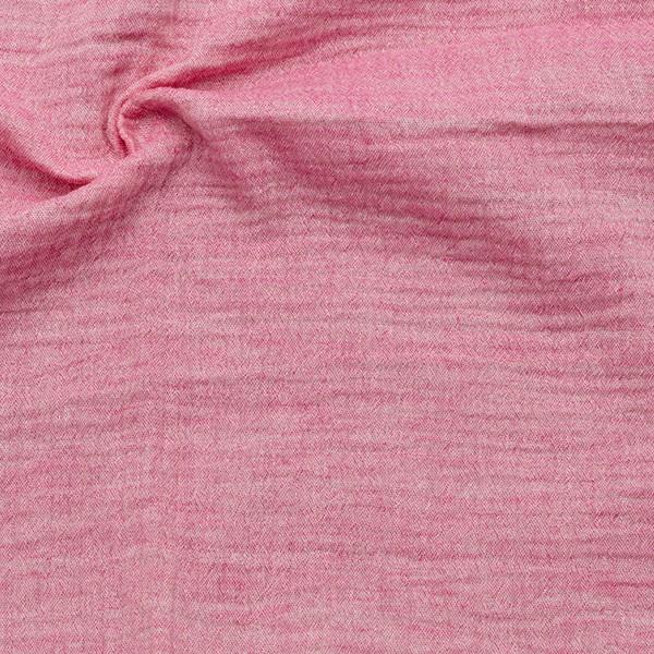 Baumwolle Musselin Double Gauze Melange Rosa