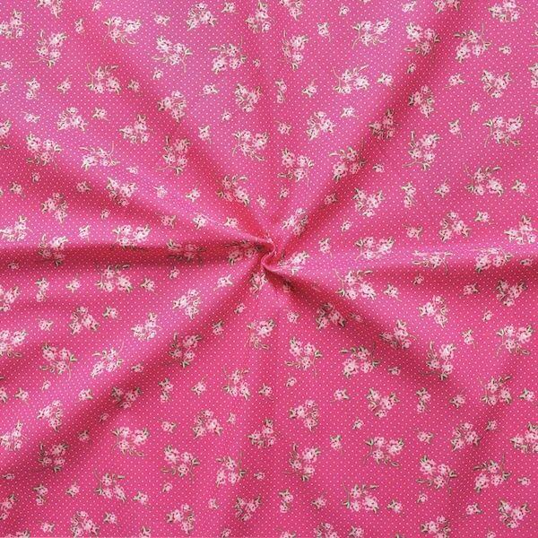 """100% Baumwollstoff """"Dirndl 5"""" Farbe Pink"""
