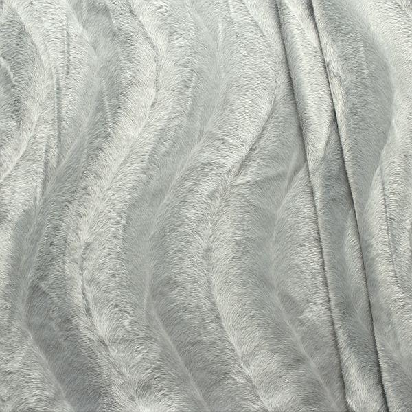 Teddy Fellimitat Velboa Silber-Grau