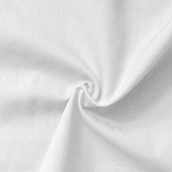 Baumwolle Polyester wie Batist Farbe Rein-Weiss