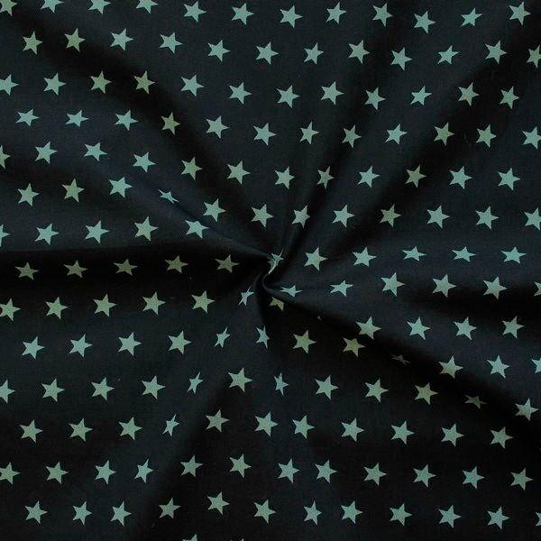 Popeline mit Sternen